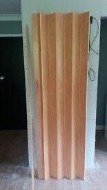Concertina Door in Light Oak