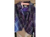 Purple pattened jacket