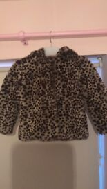 M & S girls coat with hood aged 3-4