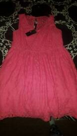Pink dress new with tags size 16