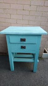 Solid wood side table/ telephone table