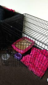 Puppy cage hardly used still in box