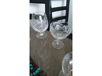 Crystal brandy glass & champagne glass
