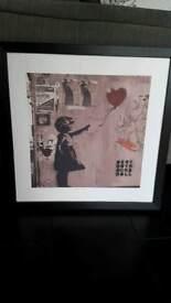 Framed Banksy Canvas Print