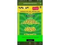 Sundown festival tickets x 2