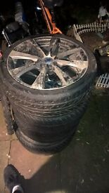 alloys complete with tyres