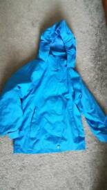 Boys age 3-4 years coat jacket waterproof removable fleece lining