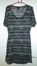 H&M Woman Short Dress/Maxi Top - Size S - Black and White