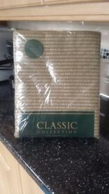 "Classic collection fully lined a pair of curtains 46""x 90""Brand new never been used."