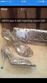 Faith size 4 shoes and matching bag