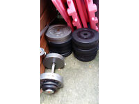 100+ KGs, 7ft Barbell, Steel Dumbbells, Plate Weights
