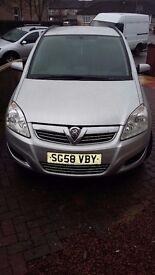 2007 (58) Vauxhall Zafira LOW MILEAGE 42K