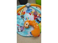 Fisher price baby activity gym with tummy time pillow