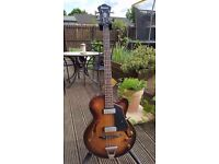 Ibanez AFBV200A Artcore Vintage 4-String Bass Guitar. Padded Gig Bag Included.