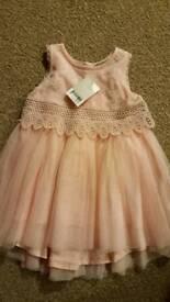 New Girls powder pink next dress