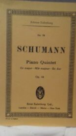 Schumann Piano Quintet Eb Major short score