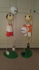 Tyrone and armagh GAA tin figures