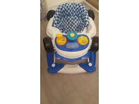 Baby Blue Car Rocker & Walker
