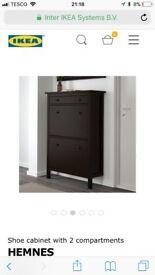 BRAND NEW IKEA HEMNES SHOE CABINET/STORAGE HALLWAY TABLE WITH DRAWERS