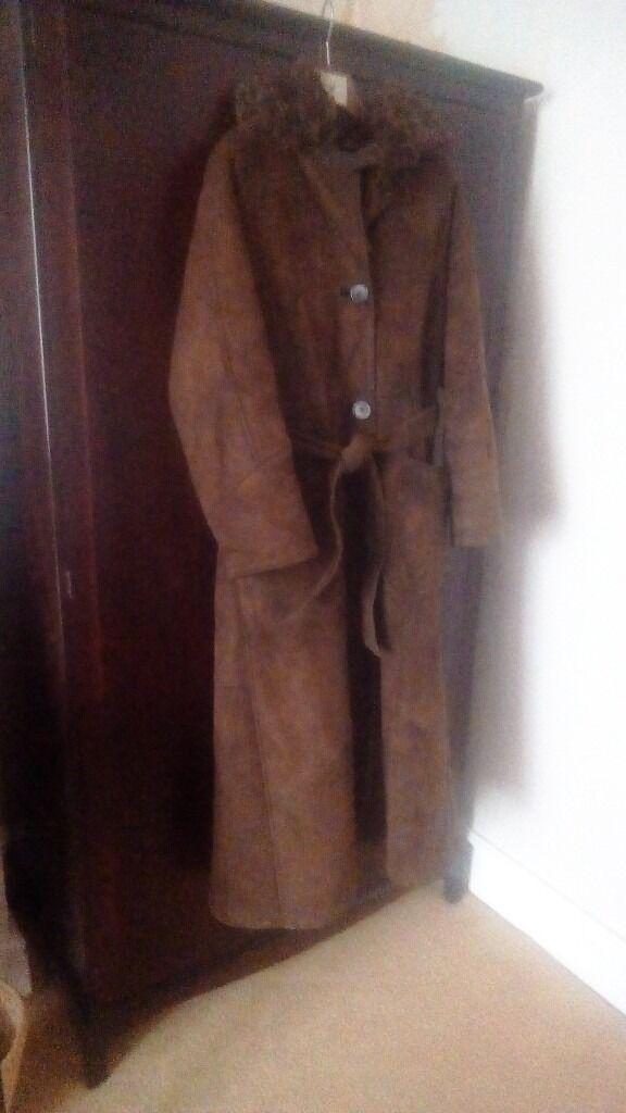 Full Length curly fur Sheepskin coat.