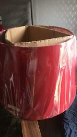 Large red lamp shade