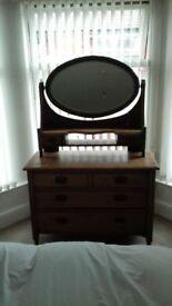 Oak dressing table for sale.