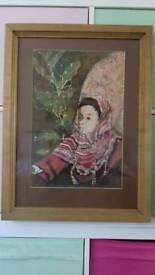 Original batik on silk by Suffolk Artist -Val Meyer Hall