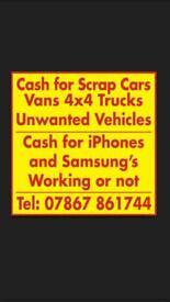 Scrap cars and vans cash paid Huddersfield