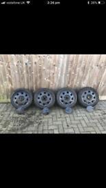 "14"" Teardrop alloy wheels Volkswagen MK2 Golf 4x100"