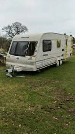 Trailer -Caravan shell - damaged side/ rear panel. Make a good trailer/ shed.
