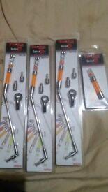 Brand new Taska sensa lite bobbins with swinging arm x3 with spare haed bite indicator carp fishing
