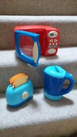ELC Toy microwave, toaster and kettle