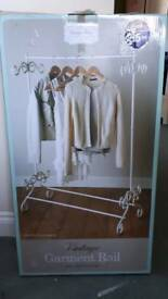 Garment clothes rail, vintage style cream. Brand new in box
