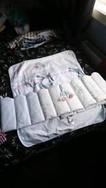 Boys crib bumper and blanket