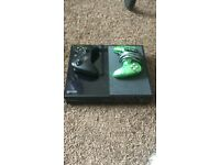 Xbox one with 2 controllers one literally only bought for £30 used couple times