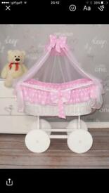 Cot / Moses basket / whicker basket