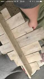 Handmade pallet shelf