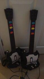 Pair of guitar hero PS2