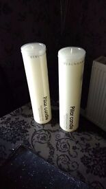 Two Large Pillar Candles