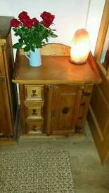 Small solid wood unit