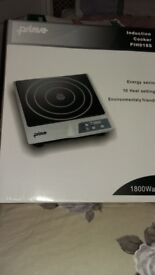 PRIMA SINGLE RING INDUCTION COOKER PIH0185 NEW, BOXED WITH INSTRUCTIONS 1800W