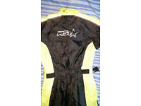 NEW RST Waterproof 1 Piece Suit - Black / Flo Yellow SIZE MEDIUM