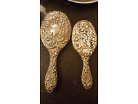 2x Over 100 year old Stirling Silver Hand held mirrors