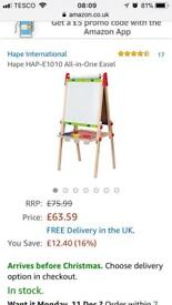 Brand new and still boxed gape art easel RRP £80
