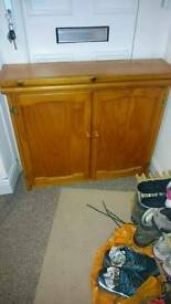Small pine electrical cabinet