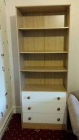 Desk and shelving unit