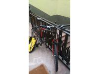 Dawes steel frame hybrid bike: 80 pounds,
