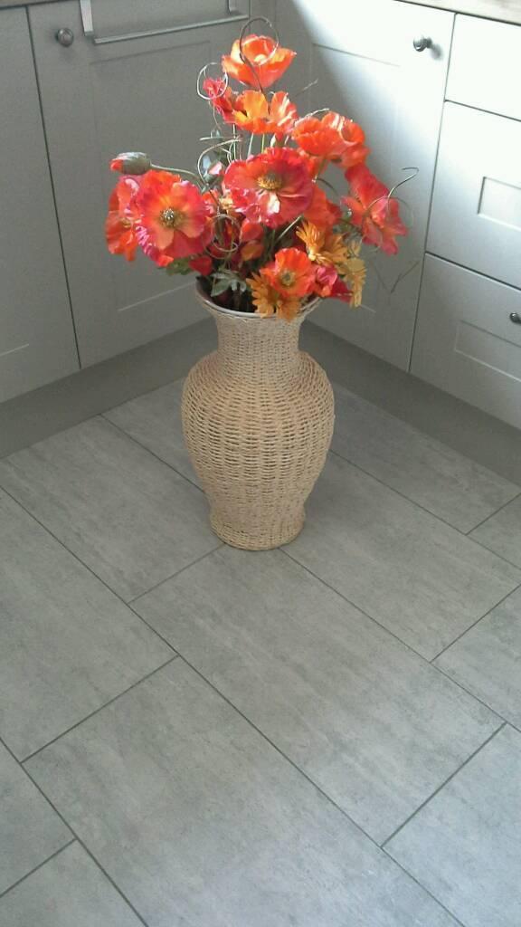 Large Wicker Vase With Flowers In Nuneaton Warwickshire Gumtree
