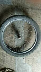 20 inch FRONT BMX WHEEL / TYRE / TUBE