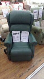 Petite Sized Repose Rimini Real Leather Electric rise and recline chair